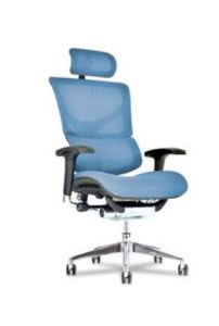 The X3 office chair features Advanced Tensile Recovery Fabric to support and cradle the user.