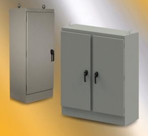 Wiegmann freestanding enclosures provide NEMA 4 and IP66 protection for electrical components from dust, dirt and water.