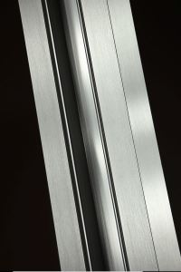 Linetec Brushed Stainless anodize finish emulates the surface found desirable in stainless steel.