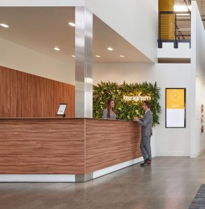 Environmental graphics and signage at Tangram provide a level of ambiance and feel that reflects its brand as well as for wayfinding and research.