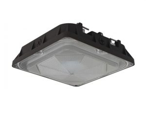 The LED Canopy Light Fixture can achieve energy savings up to 70 percent over HID, and it is IP65 Rated for wet locations.