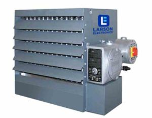 The forced fan heater is designed to operate in dangerous environments and cold-temperature work sites.