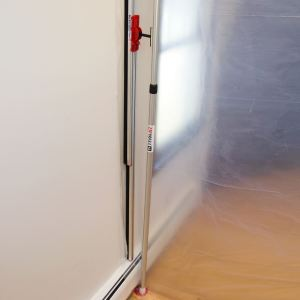 ZipWall SideBridge wall mount works with the ZipWall FoamRail Span to seal a barrier along a wall and keep dust under control during remodeling and repairs.