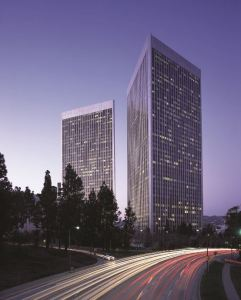 Century Plaza Towers at Century Park stands as a hallmark of the Westside of Los Angeles' city skyline.