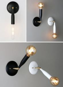 The Flute Sconce, from Studio DUNN, is inspired by the champagne flute.