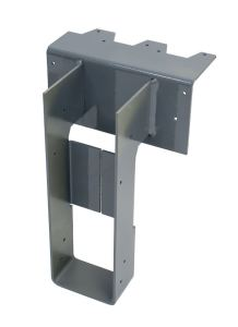The DGH fire wall hanger can be ordered with a skew angle of up to 45 degrees or with the top flange offset left or right.