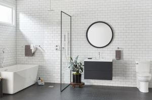 The Studio S collection of bath and shower faucets incorporate pressure-compensating aerators to deliver a strong water flow while using 1.2 gallons per minute.