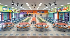 Fields Store Elementary School renovates its cafeteria and kitchen.
