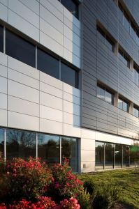 Dri-Design wall panels have dry joints, eliminating streaking on the building and maintenance for building owners.