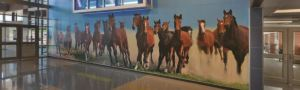 Mural showcases the pride of being a Travis Science Academy Mustang.