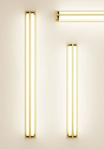 The Metropolis Wall Sconce is a cylindrical LED wall sconce can be mounted vertically or horizontally.