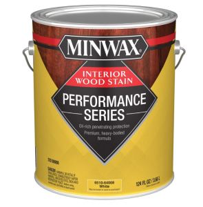 The Minwax Performance Series includes three staining solutions.