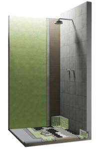 SHOWERTEC includes pre-waterproofed foam elements which save on installation time.