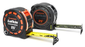 The tape measures feature metal roll bars to protect the lock button against drop impact damage.