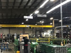 The lighting update saves Metal Sales Manufacturing an estimated $12,181 annually with a 36 percent energy-reduction-savings cost.