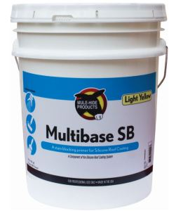 Multibase SB is a one-part, 100 percent acrylic-based resin intended for use as a primer prior to the application of Mule-Hide Silicone Roof Coating.
