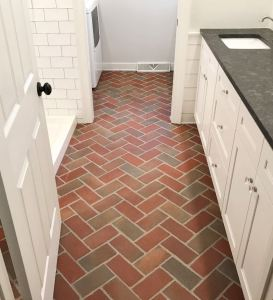 PaverTiles are clay pavers designed for use indoors.