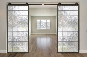The Barn-Lite sliding door system adds privacy options in residential and commercial locations.