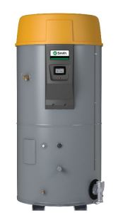 The Cyclone LV gas water heater features electronic control with built-in diagnostics and free iCOMM remote monitoring.