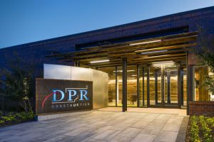 DPR Construction set four goals for its new office; sustainability, workplace of the future, data-driven decisions, and living laboratory.