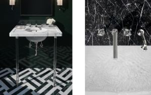 Boulevard is a 22-piece collection that includes bath fittings, fixtures, hardware and accessories.