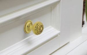 The Brass Cabinet Hardware collection is forged from solid brass for durability.