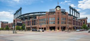 Coors Field is home to the Colorado Rockies and seats over 50,000 people.