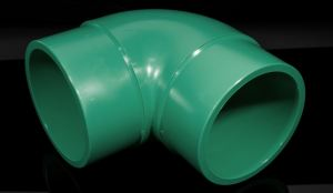 SR molded fittings are injection-molded in the Aquatherm factory and come off the production line as a single piece of polypropylene.