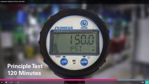 The video explains how the Aquatherm pressure test procedure differs from pressure testing traditional piping systems.
