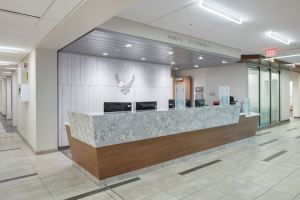 The 63,360-square-foot medical clinic, built in 1979, underwent a $28.5 million modernization and renovation.