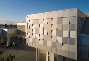 Dri-Design Tapered Series wall panels set the campus apart from the surrounding buildings.