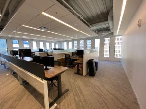 Skanska's Atlanta office offers a welcoming, productive and modern space for its team and guests.
