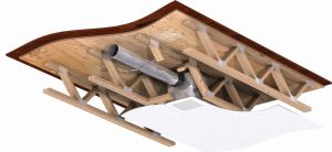The CRD-320WT ceiling radiation damper combines with SP-B or SP-L bathroom fans from Greenheck.