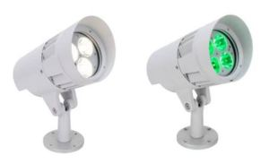 The Dyna Accent Color and Dyna Accent White LED floodlights deliver high output and efficacy for commercial facade lighting and floodlight applications.