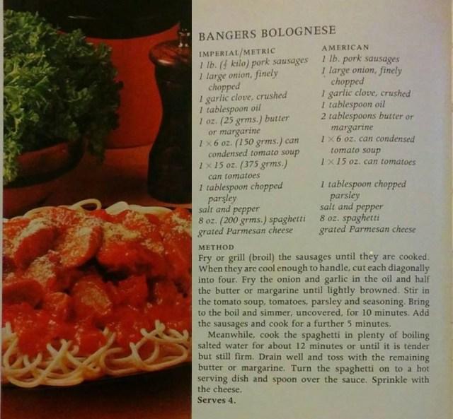 Bangers Bolognese Original