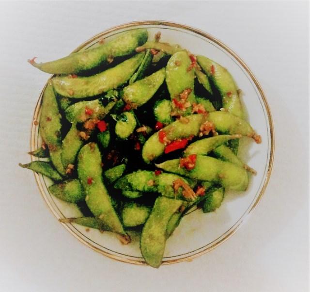 Spicy Hot Edamame (2)