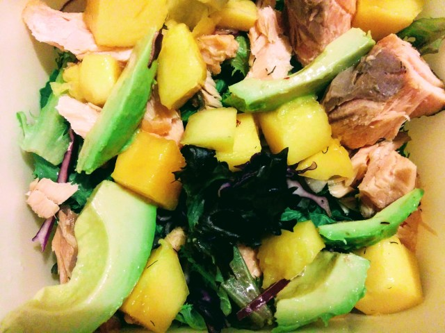 Mango, Avocado and Trout Salad