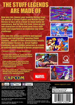 Marvel Super Heroes Vs Street Fighter Retro Game Cases