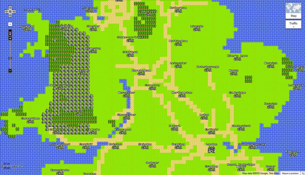 Google Maps in 8-Bit - April Fools Joke - Retro Games Collector
