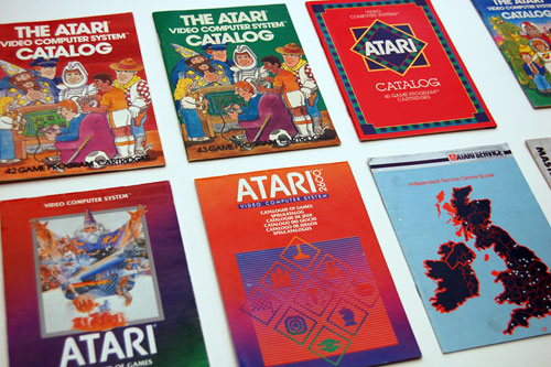 Retrogaming brochure, software catalogue & poster collection
