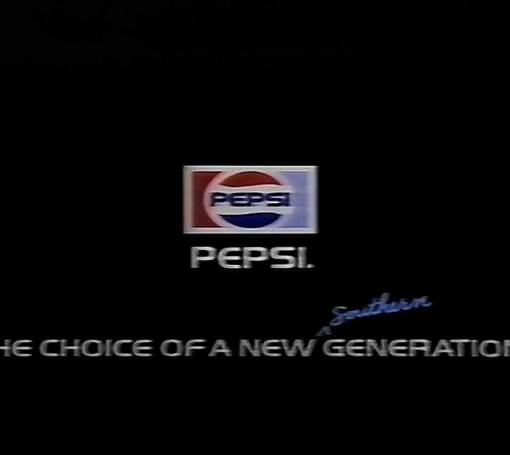 "Pepsi. The Choice of a new ""Southern Generation"""