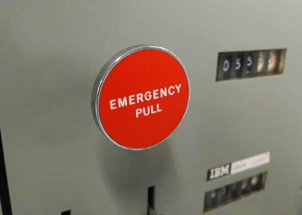Image result for big sinister red button
