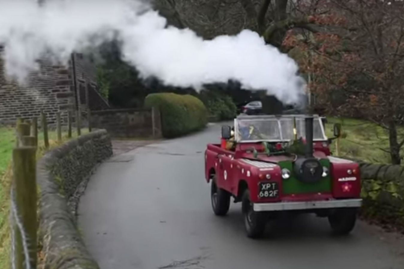 Is this steam-powered Land Rover the most British thing ever?