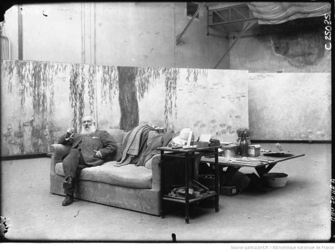 Claude Monet nel suo atelier, 1926