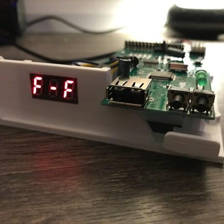 Amiga Gotek with FlashFloppy on a 3 digit display.