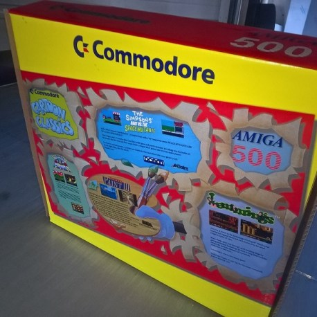 Amiga A500 Cartoon Classics Reproduction Box