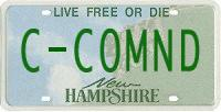 C-Command license plate