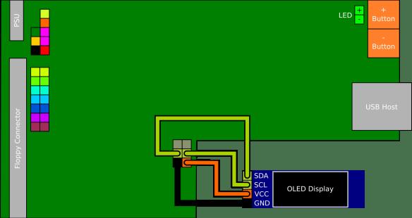 OLED Mod para o Floppy Drive Gotek com Cortex