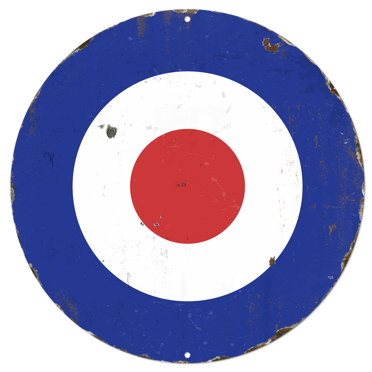 Mod Bullseye RAF Metal Sign Large Porcelain Look Large At Retro Planet