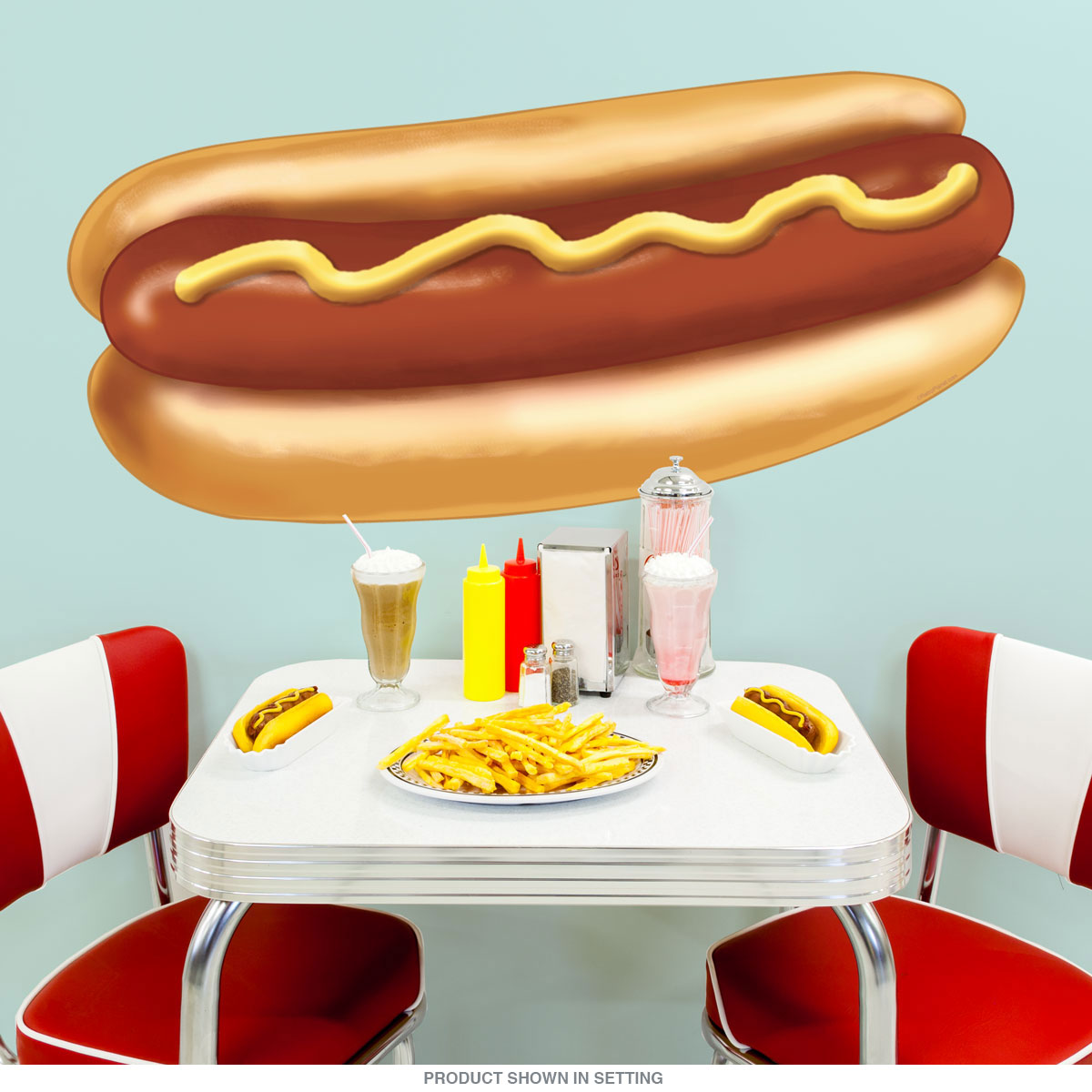 Hot Dog Diner Food Cut Out Wall Decal At Retro Planet